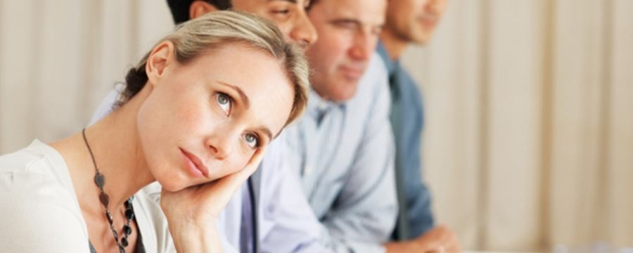 Woman thinking where to buy life insurance